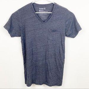 Hurley V Neck Pocket Tee Shirt Size Medium